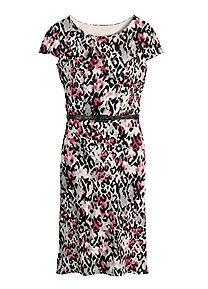 Printed Shift Dress 15H246 Wonderful Weekendwear; pretty in prints