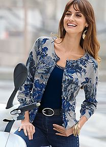 Together Floral Print Cardigan 25C871 Wonderful Weekendwear; pretty in prints